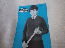 "VINTAGE ORIGINAL KNITTING PATTERN BESTWAY 3842 BOYS SCHOOL JUMPER 24 - 34"" 4 PLY"